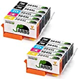 JARBO Replaced for HP 364XL 364 Ink Cartridges with High Yield for HP Photosmart 6520 5510 7510 7520 5524 6510 5515 5520 C5380 B110a HP OfficeJet 4620 4622 HP Deskjet 3070A 3520 3524 3522, Pack of 10