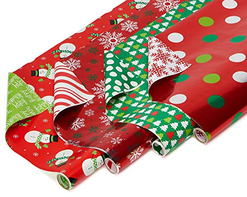 American Greetings Paper & Foil Reversible Christmas Wrapping Paper Deal (Large Image)