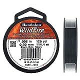 Beadalon 162T-010 WildFire .008-Inch Black, 125-Yard
