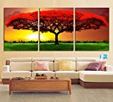Glass decorative painting/ picture/ triple picture frame/ decorative painting/ living landscapes-I 50x50cm(20x20inch)