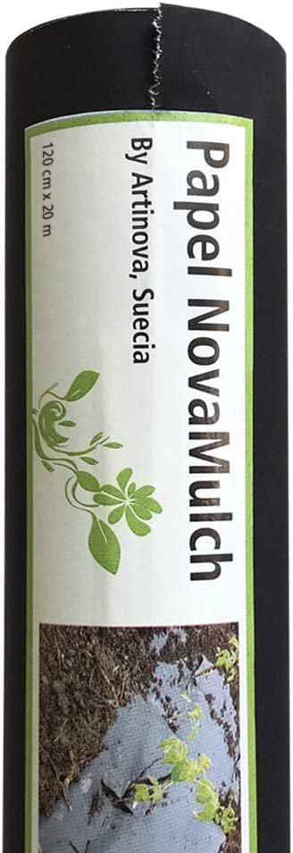 NovaMulch, Malla antihierbas de Papel Biodegradable 60cm x 20m ...