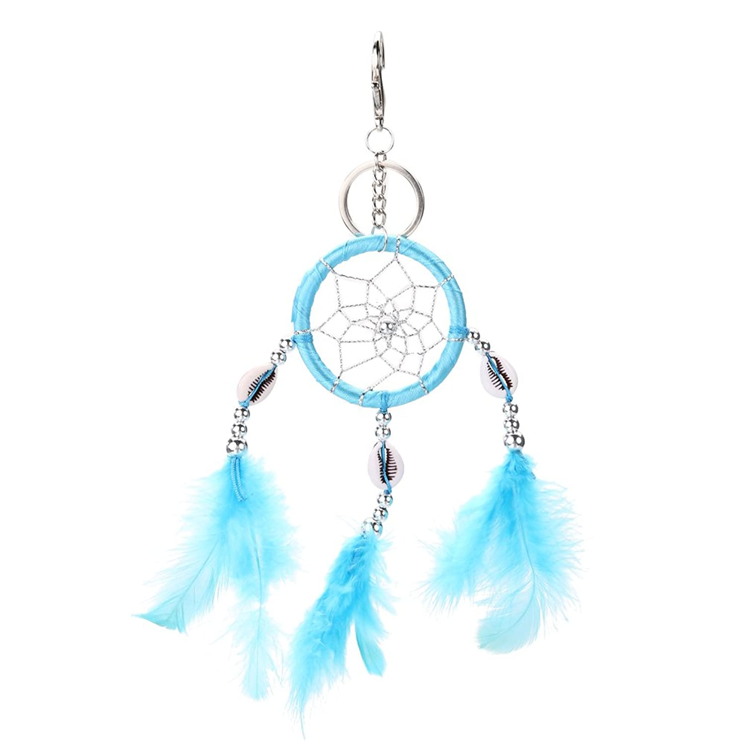 Jocestyle Womens Girls Lucky Dream Catcher Charms Fancy Key Chain Ring Keychain Keyrings Handbag Bag Accessories Pendant