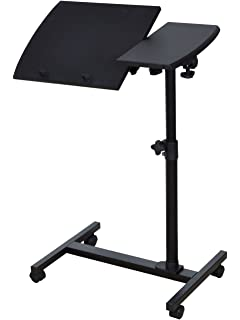 TMS Angle Height Adjustable Rolling Laptop Notebook Desk Over Sofa Bed Table  Stand