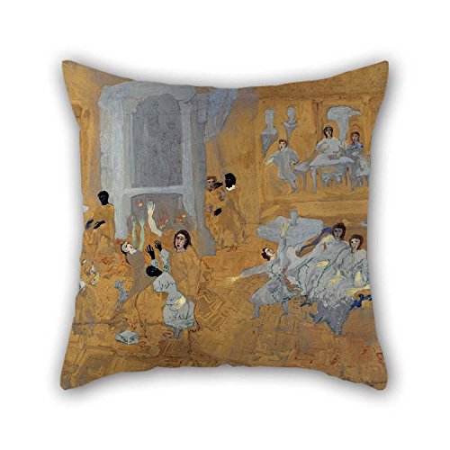 Art Sofa Deco Leather (Oil Painting Carl Fredrik Hill - Untitled (Oriental Interior) Cushion Cases 20 X 20 Inches / 50 By 50 Cm Gift Or Decor For Teens Girls Teens Bedding Him Boy Friend Sofa - Twin Sides for Christmas)