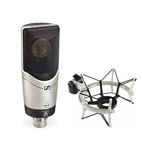 Sennheiser MK4 Digital Cardioid Condenser Microphone with MKS4 Shock Mount