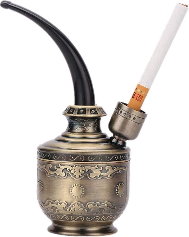 Los utensilios de fumar clásicos juegan la pipa del filtro de agua de la cachimba (Bronze)