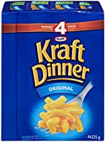 KD KRAFT DINNER - Original Macaroni & Cheese 225G, Pack of 4