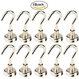 metal lockers with baskets - Multi-Function Heavy Duty Magnetic Hooks Silver(10 Pack),LGDehome 12 LB Super Strong Neodymium Magnetic Hanging Hook Widely Used Indoor Outdoor Kitchen Bedroom Bathroom Garage (D16 16mm)