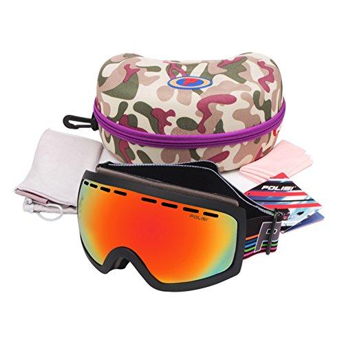 SE7VEN Masques De Ski Anti Brouillard,Double Couche Anti Brouillard Lumière  Polarisée Panoramique Masques De 6376a8e9b059