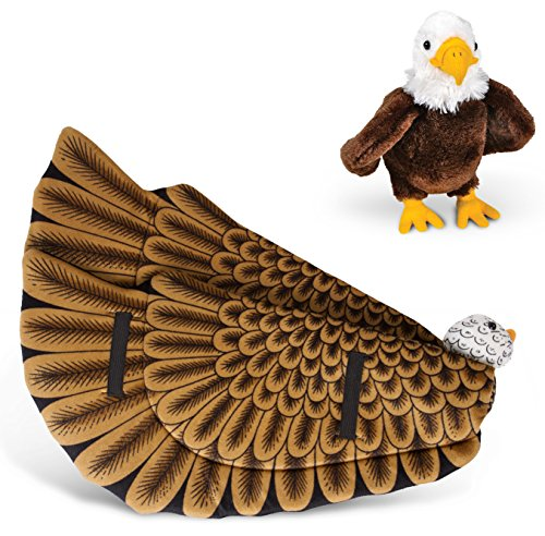 Wildlife Tree Plush Bald Eagle Wings With Baby Plush Toy Eagle Bundle For Pretend Play Animals Dressup