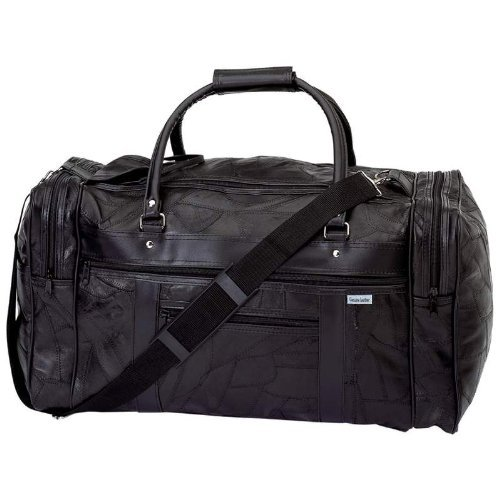 "Embassy Leather Handbag Italian - Embassy™ Italian Stone™ Design Genuine Leather 21-1/2"" Tote Bag"