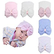 Ademoo Baby Girls Hats Newborn Hospital Hat with Bow