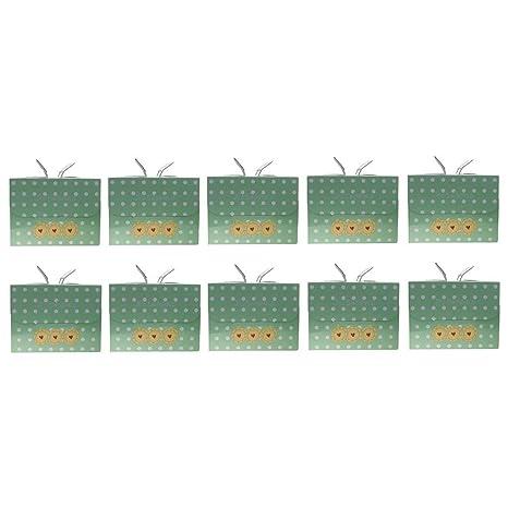 Backbayia - 10 Cajas de cartón con Asas, Ideales, cumpleaños ...