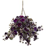 Nearly Natural 6842 Morning Glory Hanging Basket For Sale
