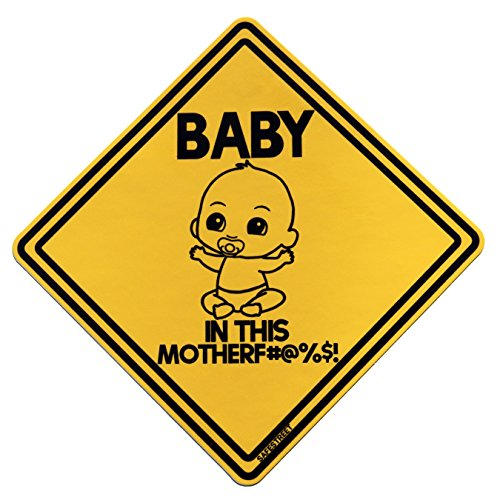 Baby On Board Sticker   Funny! Highly Visible Safety Sticker