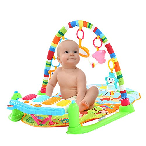 Tactile Playing Mat (Goolsky Baby Play Piano Gym,Activity Toys with Flashing Lights)