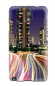 Fashion Tpu Case For Galaxy Note 3 City Lights Tokyo Desktop Defender Case Cover