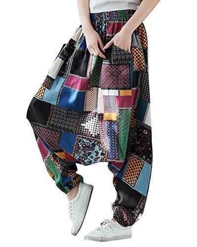 Vrac Femme Vintage Missmaom Style Marron En Bombachos Décontracté Pantalon Hippie qCZ0vnn5