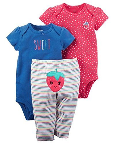 Carter's Baby Girl Strawberry 3-Piece Little Character Set Preemie
