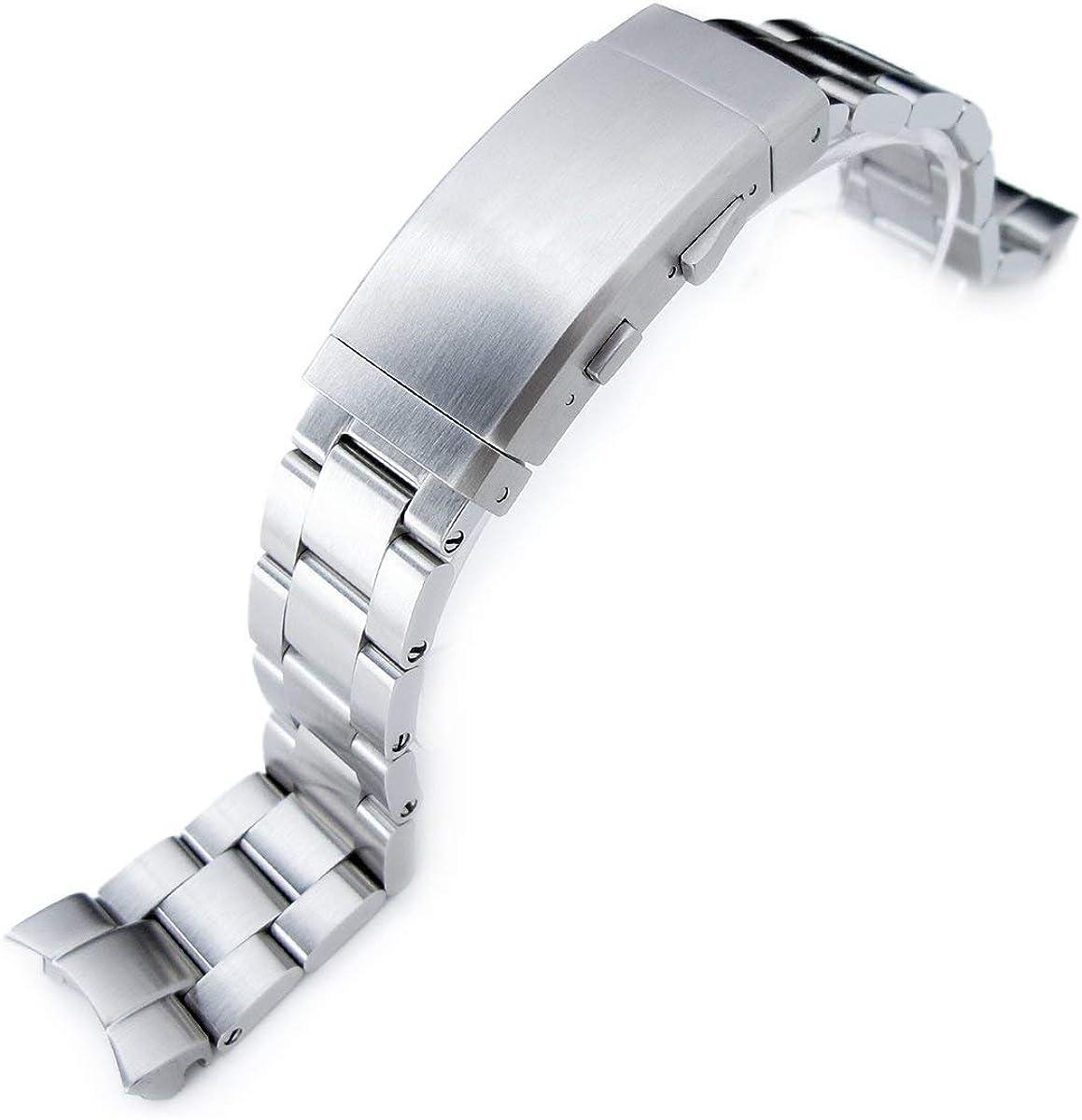 20 mm Super Oyster Bracelet Montre pour Seiko Skx013, brossé en Acier Inoxydable 316L, à cliquet