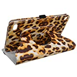 Case+Film+Stylus+Wrap+Cap PU Leather Stand Folio Fits Amazon Kindle Fire 7 5th Gen 2015/ 7th Gen 2017 Yellow Brown Leopard