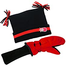 SnowStoppers Nylon Mitten and Knit Jester Hat Set