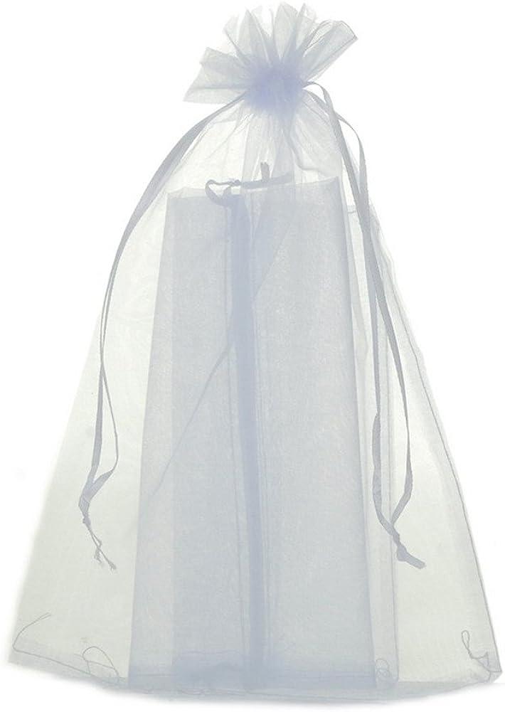 MQIGO - 50bolsitas de organza, de 20x30cm, ideales para regalar joyas
