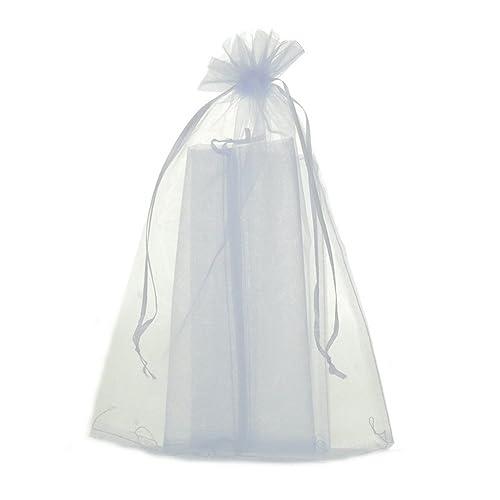 MQIGO - 50 bolsitas de organza, de 20 x 30 cm, ideales para regalar joyas