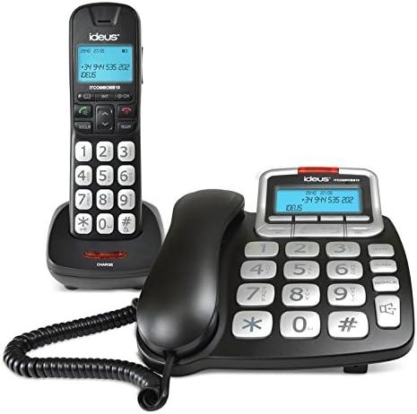 IDEUS - Combo Teléfono Sobremesa Y Dect Ideus Negro: Amazon.es: Electrónica