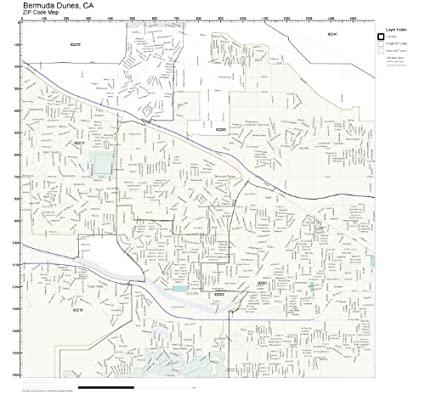 Amazon.com: ZIP Code Wall Map of Bermuda Dunes, CA ZIP Code Map Not ...