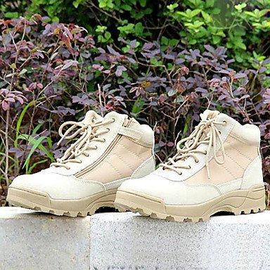 Love & zapatos hombres zapatos de Amir 2016Nuevo estilo al aire libre/de piel/tela vaquera antideslizante bajo tobillo botas negro/Beige negro