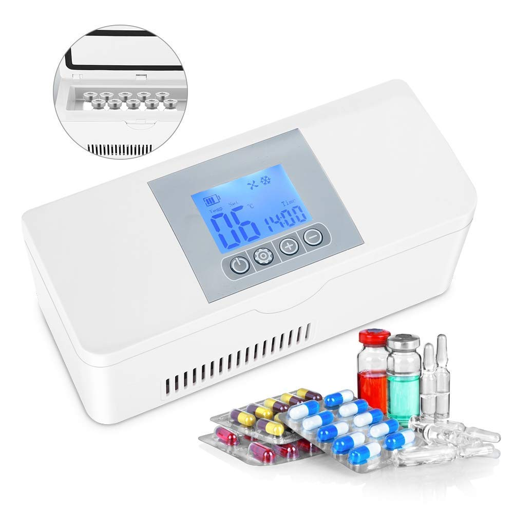 Roawon Insulin Cooler Portable USB Insulin Refrigerated Box Medical Travel Cooling Small Refrigerator Case by Battery Working 8 Hours