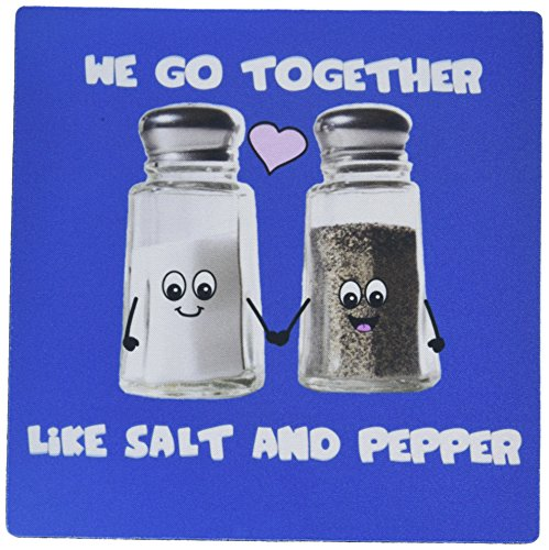 r Like Salt and Pepper, Cute Smiling Cartoon Condiments Shakers in Love, Navy Blue Mouse Pad (mp_58328_1) ()