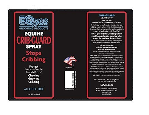 Eqyss Crib Guard Equine Spray 32oz - Guaranteed to Stop Your Horse from Chewing and Cribbing