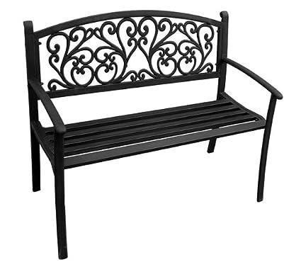 Amazoncom Jordan 3k Sscroll Steel Park Bench With Scroll Design