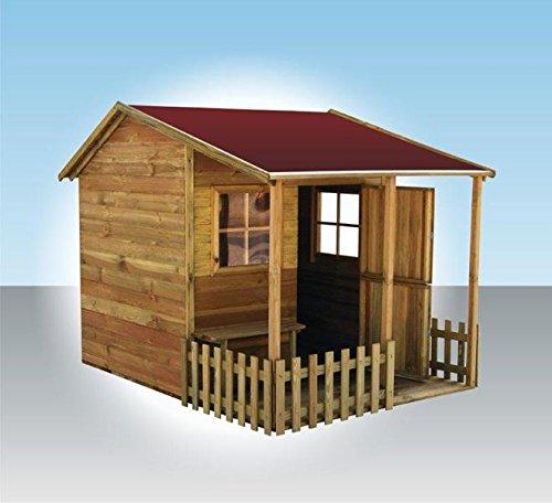 Spielhaus Inka- Kinderspielhaus Holz für den Garten, FSC zertifieziert/ TÜV geprüft inkl. Dachpappe