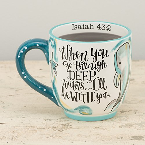 (Glory Haus Trust in in God Whale Mug, Multicolor )