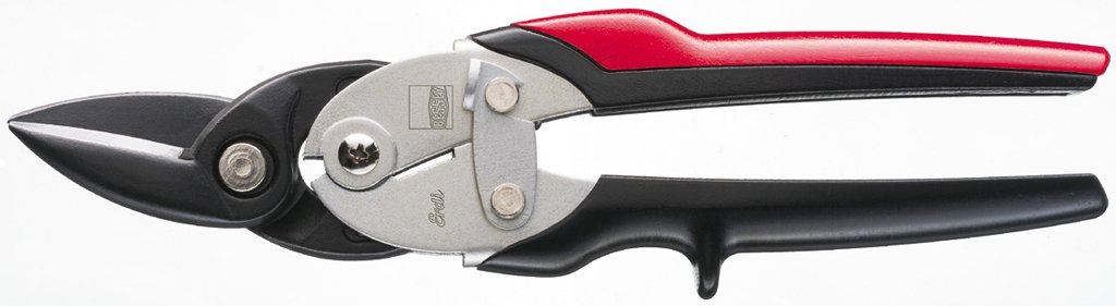 Bessey Shape Cutting Snips D29SS-2 Right Cutting, Black/Red/Silver
