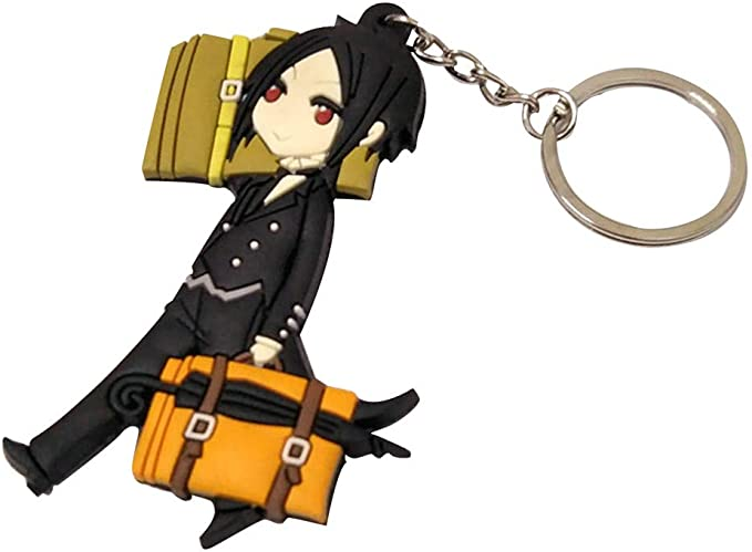 T201 anime Black Butler Book of the Atlantic rubber Keychain Key Ring  big size