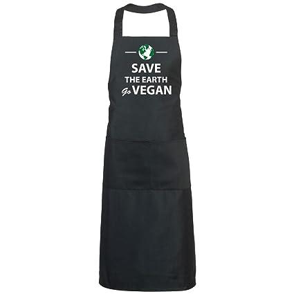 Grembiule Da Cucina Spiritoso.Lamaglieria Grembiule Cuoco Save The Earth Go Vegan