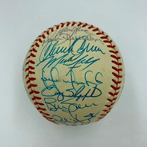 1990 Milwaukee Brewers Team Signed Baseball Paul Molitor Robin Yount COA - PSA/DNA Certified - Autographed ()