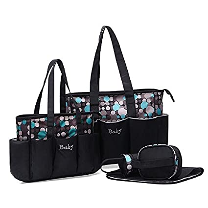 3e6b76e0c4 Buy Baby Bucket Baby Diaper Nappy Changing Baby Bag (0-18 Month, Multi Dots  Black and Green) Online at Low Prices in India - Amazon.in