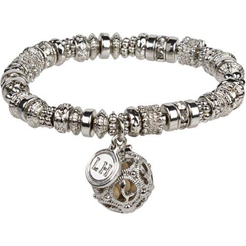 - Lisa Hoffman Elements Fragrance Bracelet with 1.6 gram bottle of Tuscan Fig Fragrance Beads (Silver)