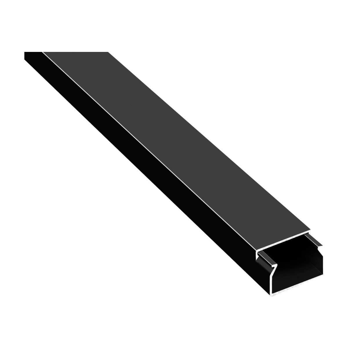 20m Kabelkan/äle Selbstklebend Kabelkanal Schwarz mit Schaumklebeband fertig f/ür die Montage 12x12mm BxH