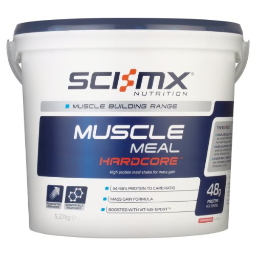 SCI-MX Nutrition Muscle Meal Hardcore, Protein Powder Shake, 5.27kg, Strawberry, 34 Servings