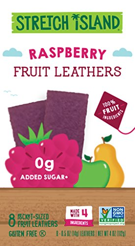 Stretch Island Fruit Original Leathers Raspberry 4 Oz 8 Ct