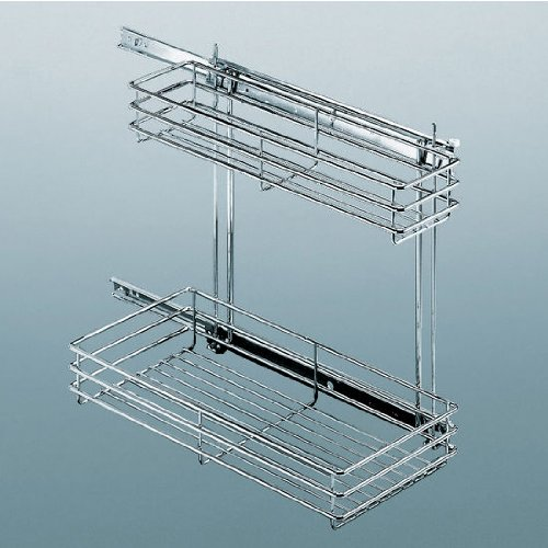 Hafele Chrome Wire Undersink Storage Unit by Hafele America