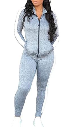 ShuangRun - Chándal - para Mujer Gris Gris S: Amazon.es: Ropa y ...