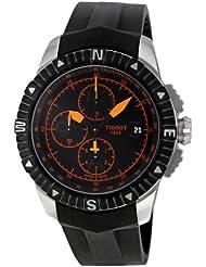 Tissot Mens T062.427.17.057.01 Black Dial Watch