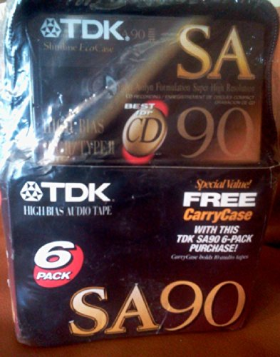 - TDK Sa90 Audio Cassette Tape with Free Carry Case (6-pack)